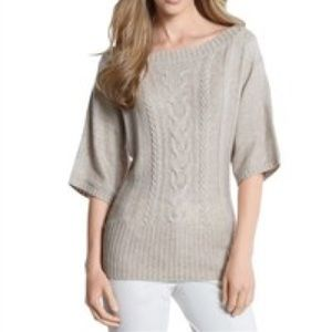 CABLE KNIT SWEATER STYLE: 570034684 SZ M Cream